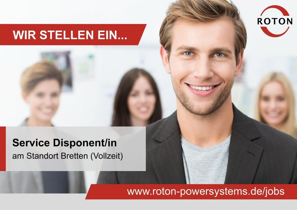 Service Disponent/in (m/w/d) (Vollzeit | Bretten)